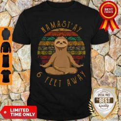 Sloth Yoga Namastay 6 Feet Away Vintage Shirt
