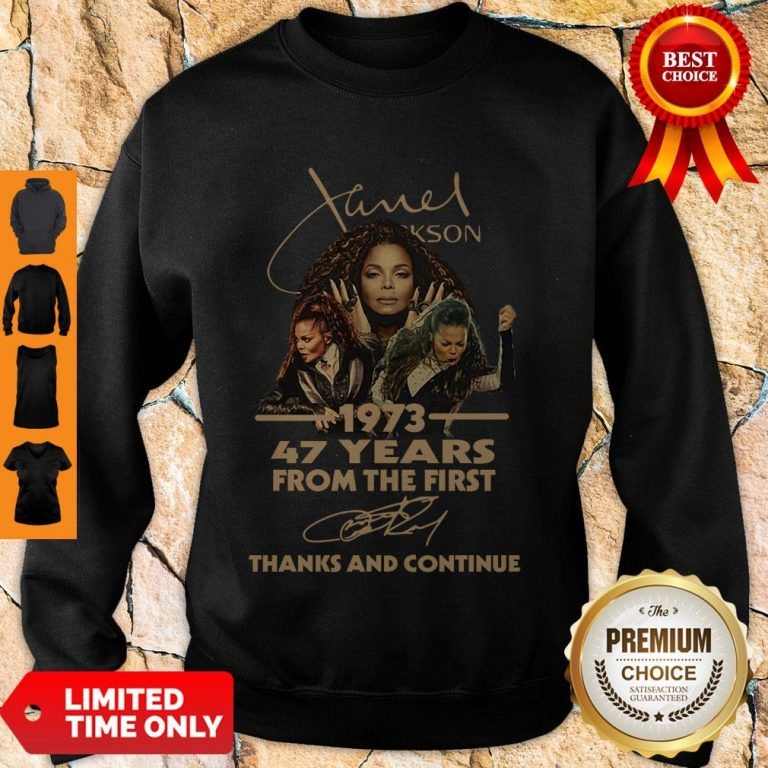 Cute Nice Janet Jackson 47 Years Of 1973-2020 Signatures Thank You For The Memories Sweatshirt
