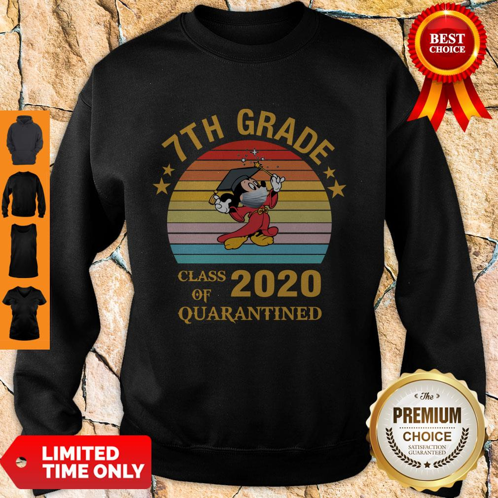 Cute Mickey Mouse 7th Grade Class Of 2020 Quarantined Vintage Sweatshirt