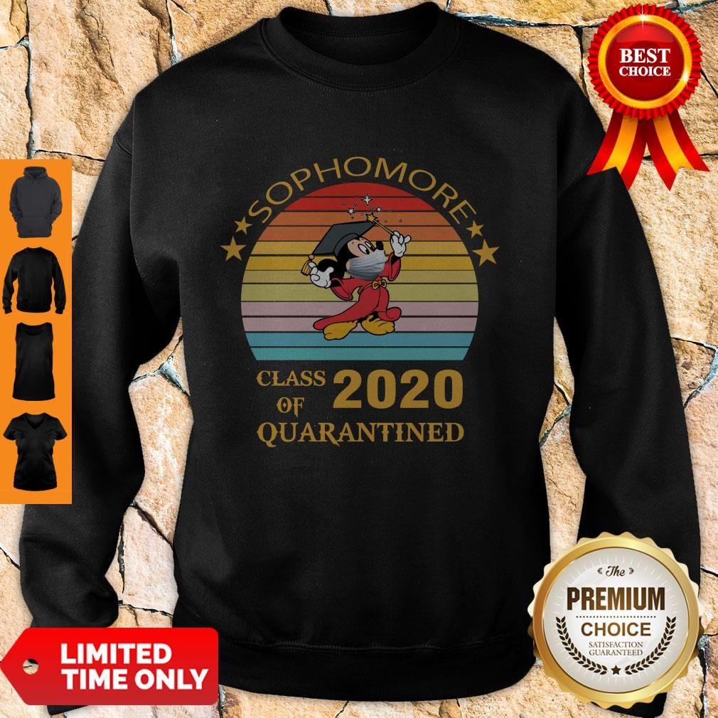 Premium Mickey Mouse Sophomore Class Of 2020 Quarantined Vintage Sweatshirt