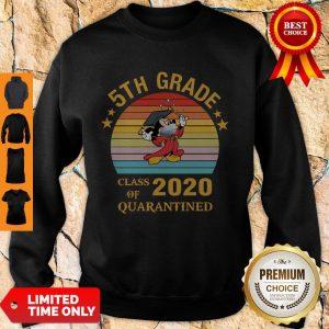 Nice Mickey Mouse 5th Grade Class Of 2020 Quarantined Vintage Sweatshirt