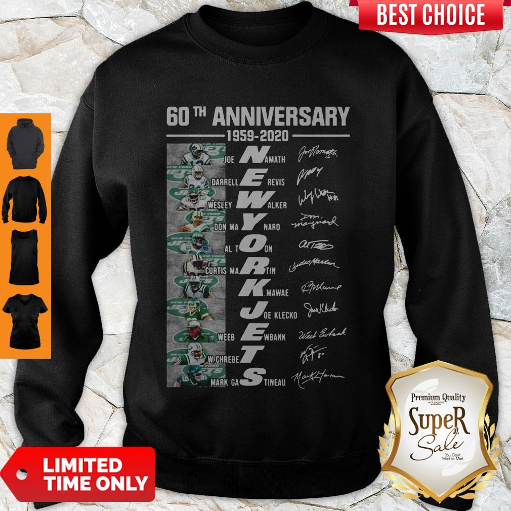 Premium 60th Anniversary 1959 2020 New York Jets Sweatshirt