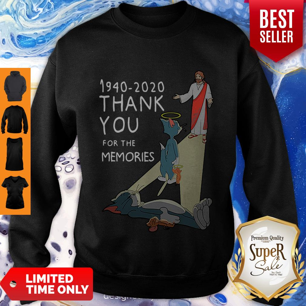 Top Tom And Jerry 1940 2020 Thank You For The Memories Sweatshirt