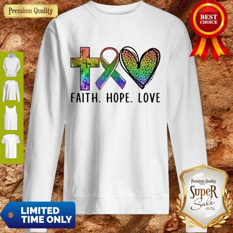 Premium Faith Hope Love Sweatshirt