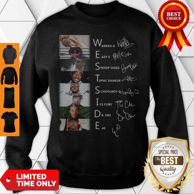 Good West Side Warren G Eazy E Snoop Dog Signatures Sweatshirt