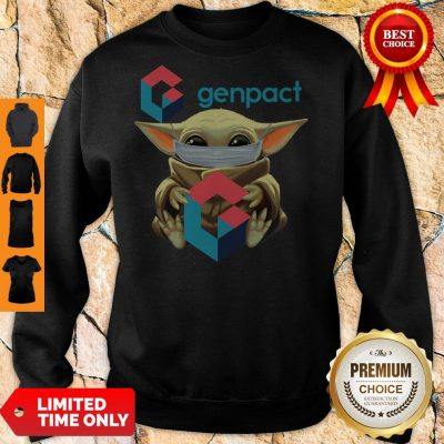 Pro Baby Yoda Mask Hug Genpact Sweatshirt