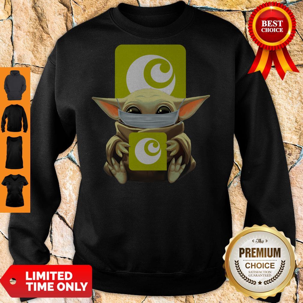 Premium Baby Yoda Mask Hugging Ocado Sweatshirt