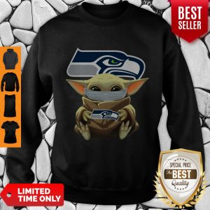Official Baby Yoda Face Mask Hug Seattle Seahawks I Can't Stay At Home Sweatshirt
