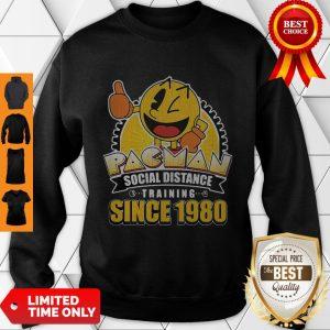 Cute Pacman Social Distance Training Since 1980 Classic Sweatshirt