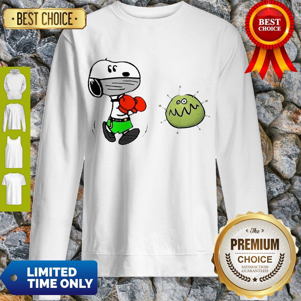 Nice Snoopy Boxing Virus Corona Sweatshirt