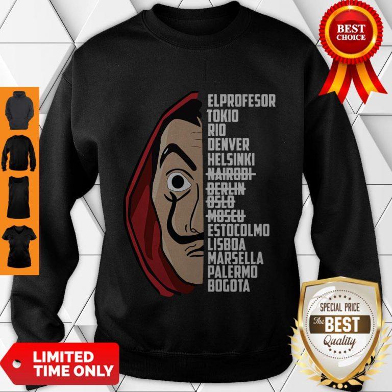 Premium El Profesor Tee Shirt Bella Ciao Sweatshirt