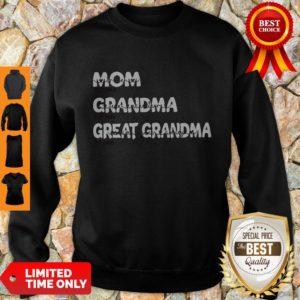 Top Personalized Family Mom Grandma Great Grandma With Grandkid Sweatshirt