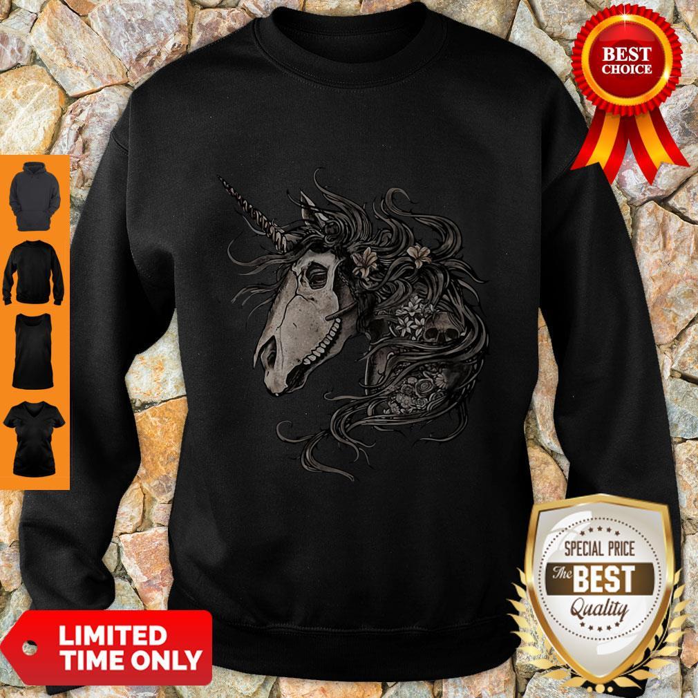 Premium Unicorn Skull Flower Sweatshirt