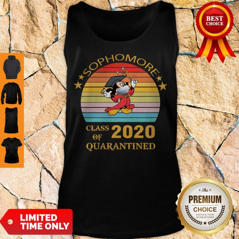 Premium Mickey Mouse Sophomore Class Of 2020 Quarantined Vintage Tank Top