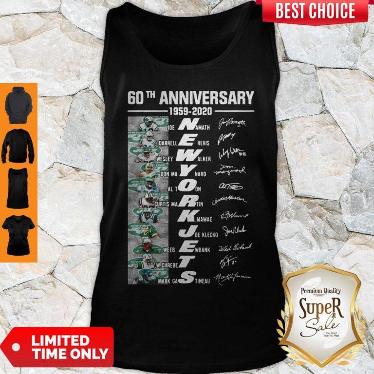 Premium 60th Anniversary 1959 2020 New York Jets Tank Top
