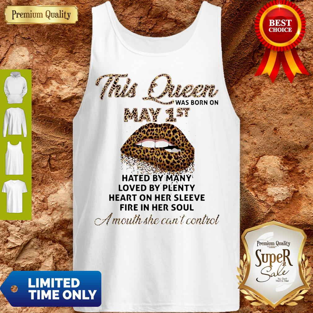 Cute Lips Leopard This Queen Was Born On May 1st Hated By Many Loved By Plenty Tank Top