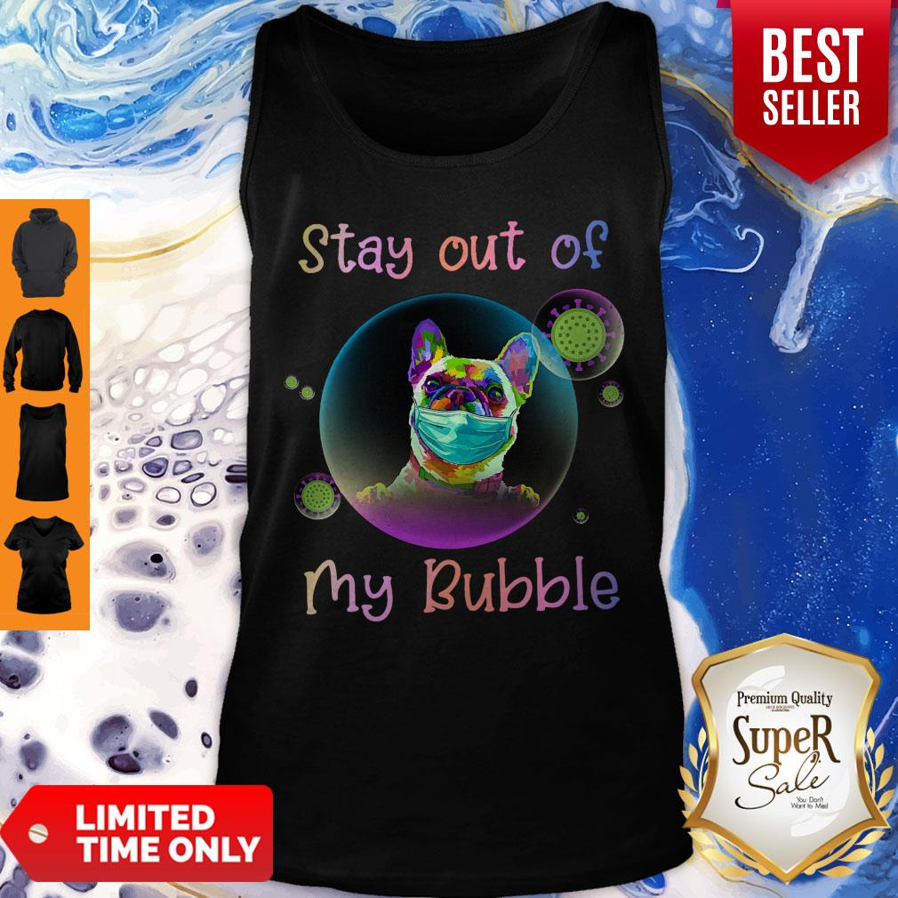 Pretty Stay Out Of My Bubble Pug Dog Tank Top