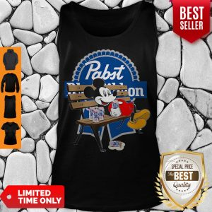Top Mickey Mouse Drink Pabst Blue Ribbon Tank Top