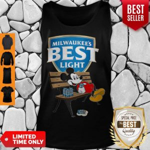 Top Mickey Mouse Drink Milwaukee's Best Light Beer Tank Top