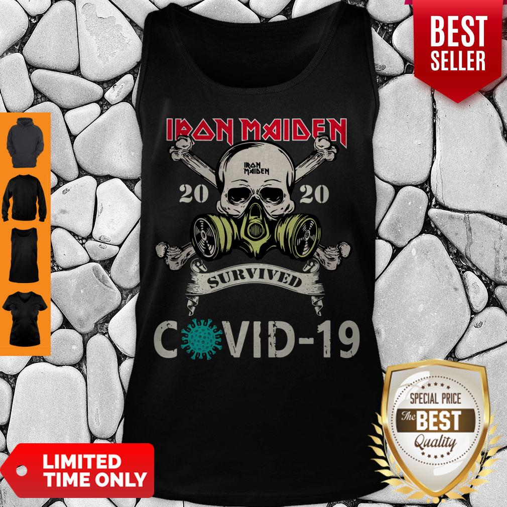 Top Original Skull Iron Maiden 2020 Survived Covid 19 Tank Top