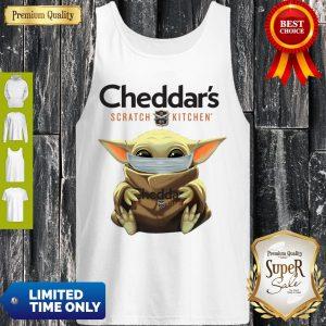 Cute Baby Yoda Mask Cheddar's Scratch Kitchen Coronavirus Tank Top