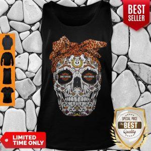 Pretty Sugar Skull Motorcycles Harley Davidson Tank Top