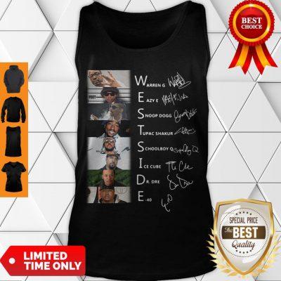 Good West Side Warren G Eazy E Snoop Dog Signatures Tank Top