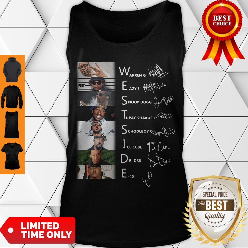 Good West Side Warren G Eazy E Snoop Dog Signatures Tank Top