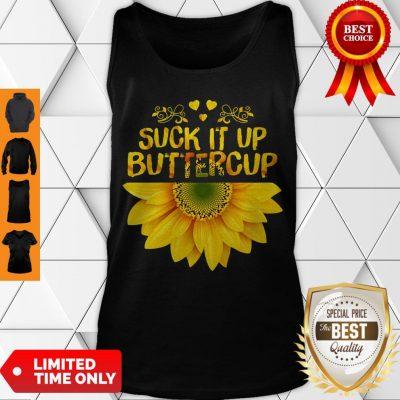 Cute Sunflower Suck It Up Buttercup Tank Top