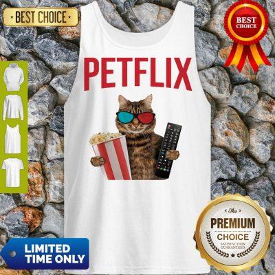 Premium Petflix Cat Popcorn And Mode Tank Top