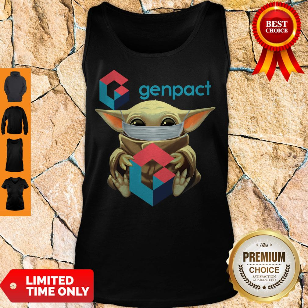 Pro Baby Yoda Mask Hug Genpact Tank Top