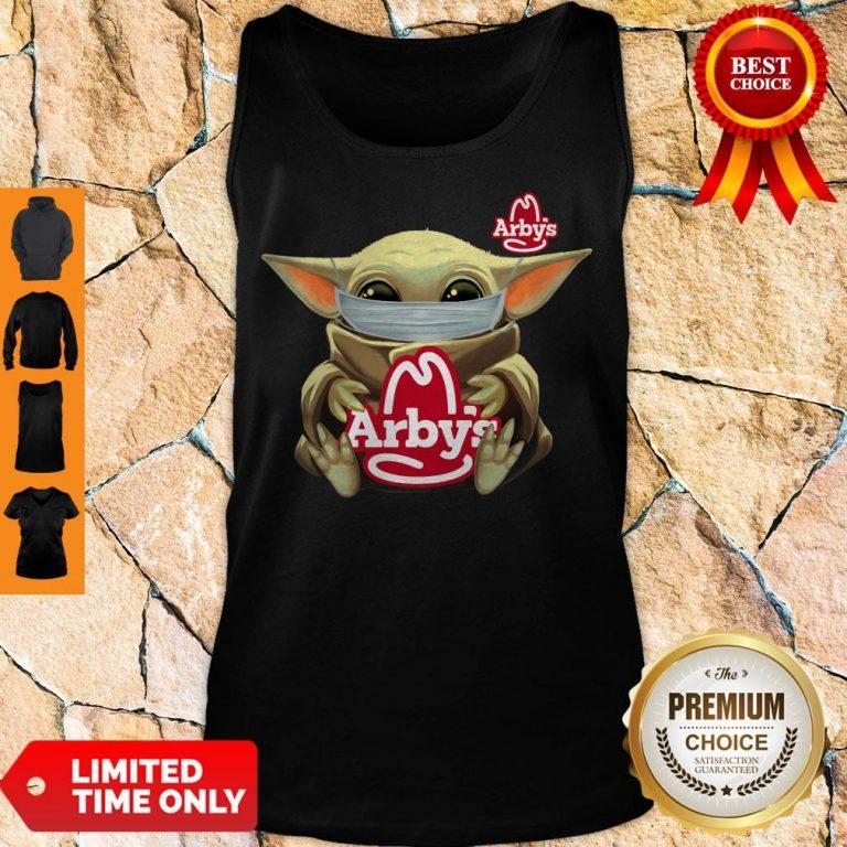 Official Baby Yoda Mask Hug Arbys Tank Top