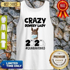 Pretty Crazy Donkey Lady 2020 Quarantined Tank Top