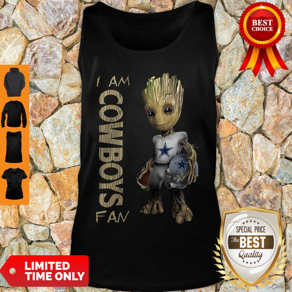 Nice Baby Groot I Am Dallas Cowboys Fan NFL Football Tank Top