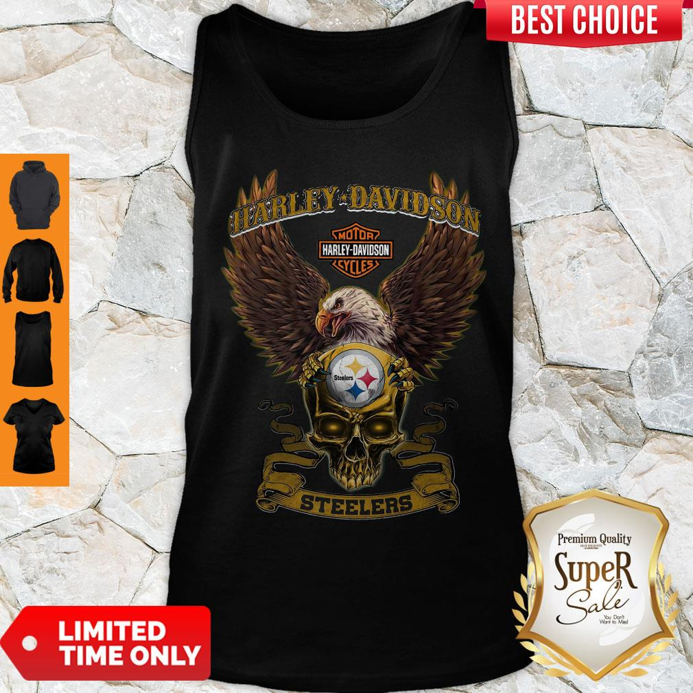 Pro Eagle Skull Harley-Davidson Pittsburgh Steelers Tank Top