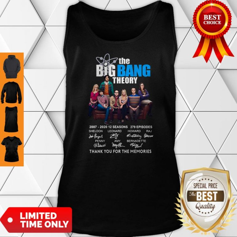 Pretty The Big Bang Theory Thank You For The Memories Tank Top