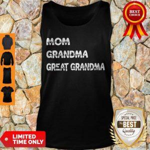 Top Personalized Family Mom Grandma Great Grandma With Grandkid Tank Top