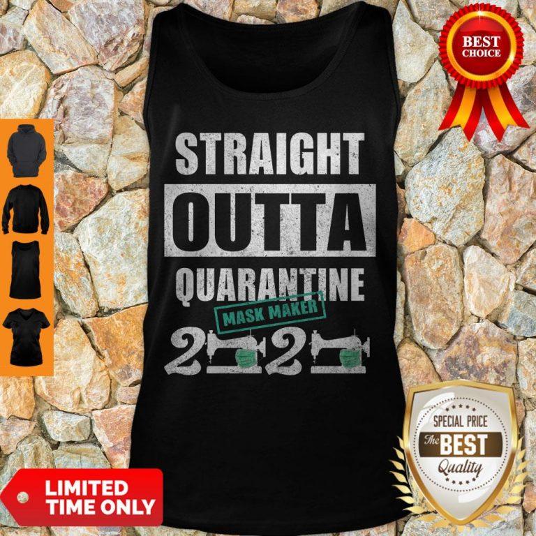 Hot Straight Outta Quarantine Mask Maker 2020 Tank Top