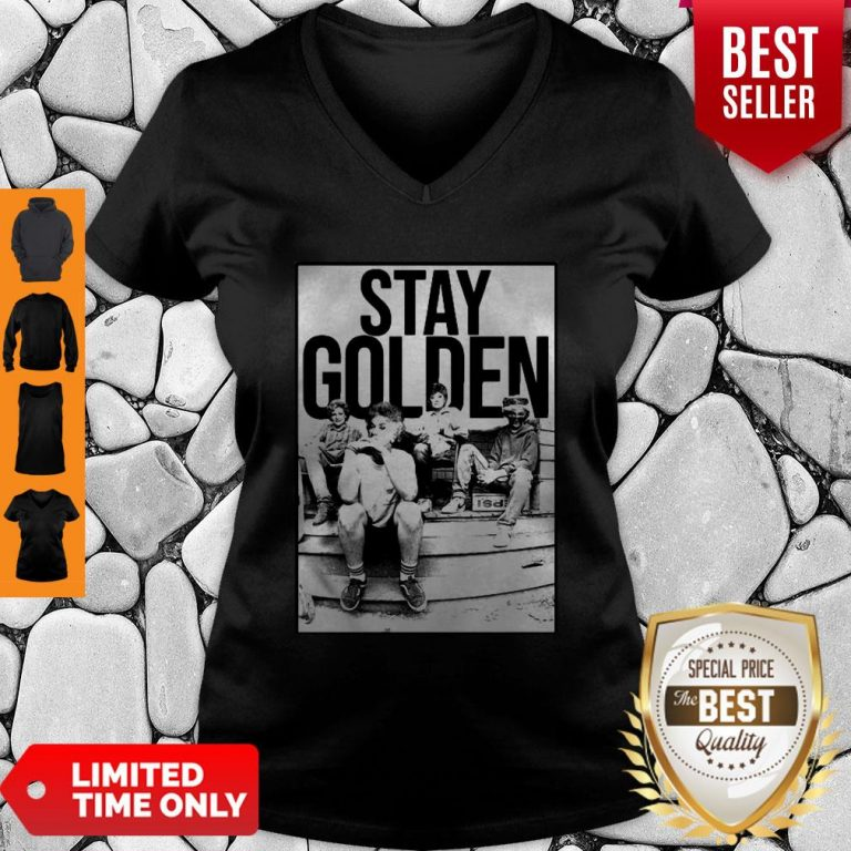 The Golden Girl Mashup Minor Threat Stay Golden V-neck