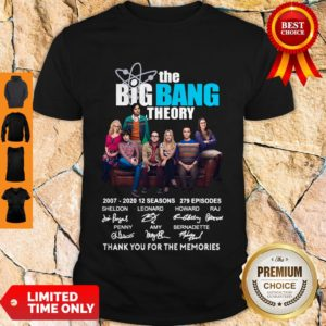 Top The Big Bang Theory Signatures Thank You For The Memories Shirt