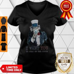 Uncle Sam I Want You To Stay On The Couch V-neck