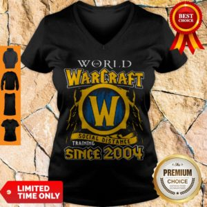 Official World Of Warcraft Social Distance Training Since 2004 V-neck
