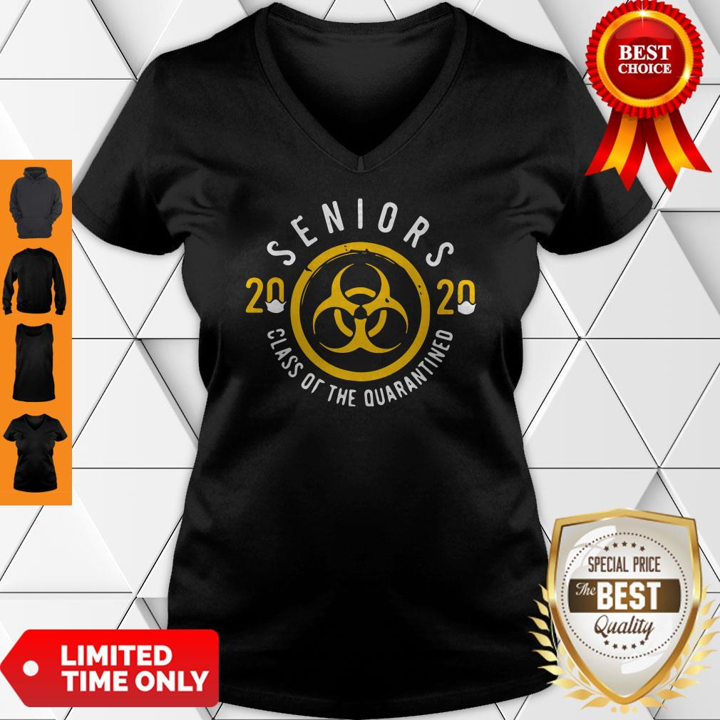 Official Seniors 2020 Class Of The Quarantine Coronavirus V-neck