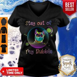 Pretty Stay Out Of My Bubble Pug Dog V-neck