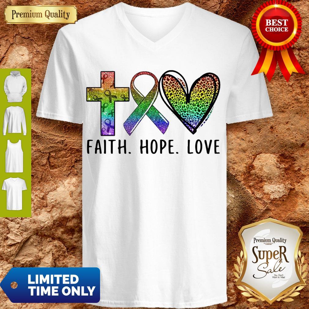 Premium Faith Hope Love V-neck