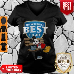 Top Mickey Mouse Drink Milwaukee's Best Light Beer V-neck