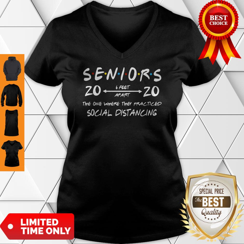Official Seniors 2020 The One Where They Practiced Social Distancing V-neck