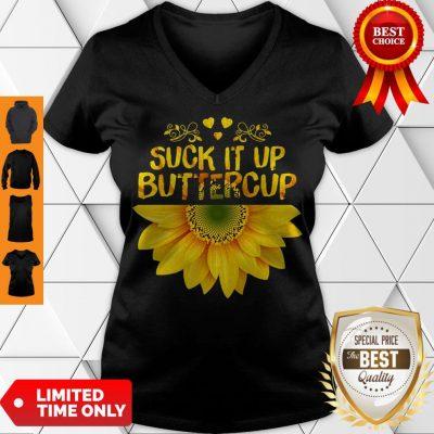 Cute Sunflower Suck It Up Buttercup V-neck