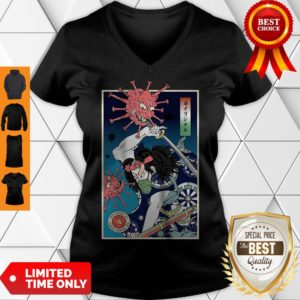 Official Samurai Corona Virus V-neck