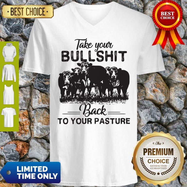 Top Cow Take Your Bullshit Back To Your Pasture V-neck